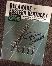JACKIE  SHERRILL(Pitt Panthers) Autographed Program Gameday Hologram