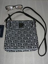 NEW DIVINE BLACK/WHITE LOGO TOMMY HILFIGER CROSSBODY HANDBAG RRP $69