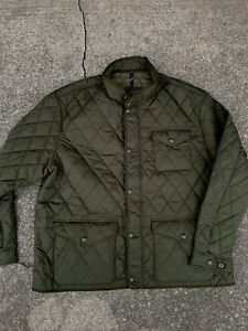 NWT Polo Ralph Lauren Quilted Jacket Army Green Mens Size 2XB $288 Coat