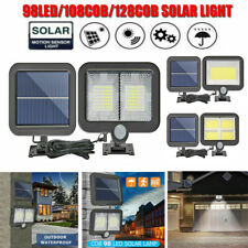 20-128 LED Solar Motion Sensor Wall Light IP65 Waterproof Home Garden Yard Lamp