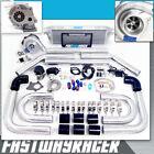 Universal T3/T4 T04E Hybrid Turbo Kit Turbo Charger Starter Kit T3 .57AR Turbo