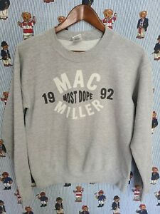 Mac Miller Dope Since 92 Gray Sweatshirt Mens Small 2011 Vintage RIP Rare