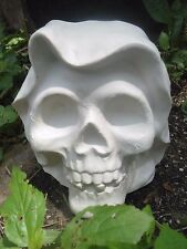 """Halloween skull poly plastic mold 8"""" x 7.5"""" x 4"""" thick free standing statue"""