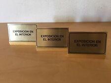 """Used - 3 CARD SUPPORTA 3 SUPPORTI CARTOLINE - """"Esposizione in il interno"""" Usato"""