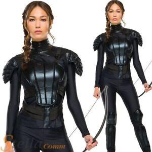 Katniss Everdeen Costume Hunger Games Rebel Ladies Fancy Dress Mockingjay