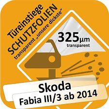 SKODA FABIA III / 3 PORTE PORTIÈRE Seuil voiture Protection Film de