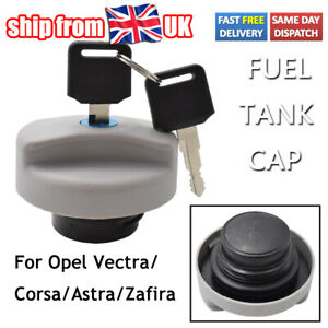 Lockable Fuel Petrol Tank Filler Cap & 2 Keys For Opel Vauxhall Astra Zafira