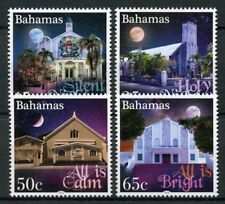 Bahamas Christmas Stamps 2018 MNH Holy Night Moon Churches Architecture 4v Set