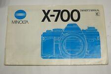 Genuine Minolta X-700 Instruction manual forMinolta X700 35mm SLR camera