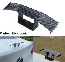 Mini Carbon Fibre Look Rear Tail Empennage Trunk Spoiler Wing Body Kit Trim #2
