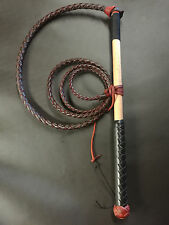 5ft Red Hide Stock Whip, free cracker twine and free post