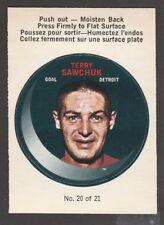 1968-69  OPC O PEE CHEE  PUCK STICKERS  # 20  TERRY SAWCHUCK   INV  J3123