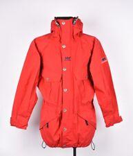 Helly Hansen Vintage Rojos capucha hombre chaqueta talla S, AUTÉNTICO