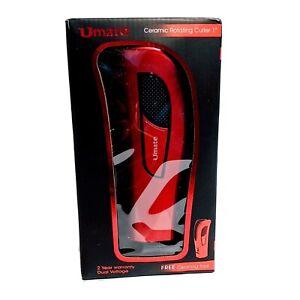 "Umate Ceramic Rotating Curler 1"" Red LCD Digital Display Red W/ Accessories"