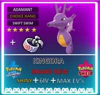 Pokemon Sword & Shield Shiny KINGDRA 6IV Max EVs  **FAST DELIVERY** COMPETITIVE