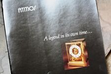 Vintage Jaeger Lecoultre Atmos brochure printed in USA with Atmos 5853 5856 5925