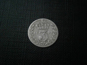 1911 King George V silver 3D FREE P&P