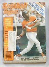 Willie McCovey San Francisco Giants  February 1978 Baseball Digest vg