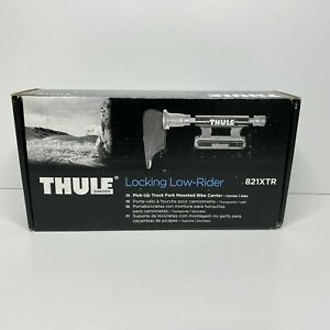 Thule 821XTR Locking Low-Rider | Pick-Up Truck Fork Mounted Bike Carrier | Black