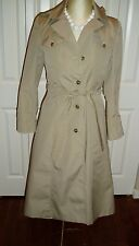 Ladies Vintage J. Gallery Size 7 / 8 Khaki Raincoat