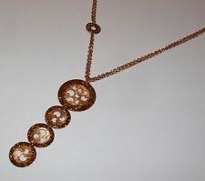 Collana ROSATO ORO 18kt GOLD necklace Goldkette D'OR COLLIER