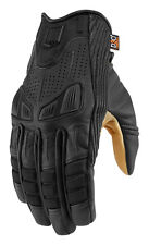 ICON 1000 AXYS Leather Motorcycle Gloves (Black) L (Large)