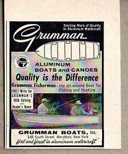 1958 Print Ad Grumman Fisherman Aluminum Boats Marathon,NY