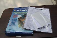 "Polaroid Glossy Paper Photo Paper 20 Sheets 8.5"" X 11"" & 30 Sheets 4"" X 6"""