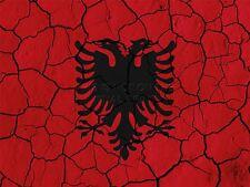 Stampa dipinto astratto BANDIERA concrete Albania Black Eagle Crest lfmp0198
