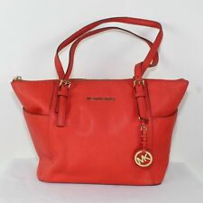 MICHAEL MICHAEL KORS Coral Saffiano Leather East West Tote Bag