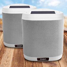 ION Keystone Wireless Mountable Solar Rechargeable Outdoor Speaker PAIR - NEW