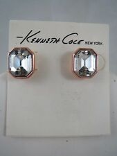 Kenneth Cole rose gold tone~crystal  stud earrings, NWT