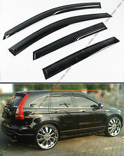 FOR 2007-11 HONDA CRV CR-V JDM 3D MUGEN STYLE SMOKED WINDOW VISOR RAIN/SUN SHADE