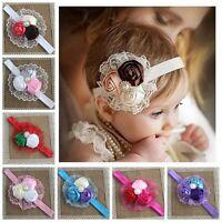 Baby Girls Flower Hairband Soft Elastic Band Bow Headband Kids Hair Accessories