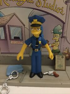 PLAYMATES INTERACTIVE THE SIMPSONS SERIES 7 OFFICER MARGE COMPLETE WOS