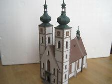Fertigmodell H0 große Stadtkirche sehr schön gebaut