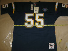 AUTHENTIC MITCHELL & NESS Junior SEAU CHARGERS Home/Blue '94 Jersey-52/2XL $250