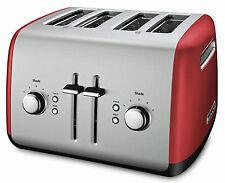 NEW KitchenAid KMT4115ER 4 Slice Stainless Steel Toaster Empire Red W/Bagel bt