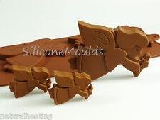 Ángeles De Navidad Chocolate Bakeware del silicón Molde Candy Cake Topper Molde Tin