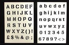 More details for re-usable bistro chalkboard menu stencils letter stencils.  ideal for menus.
