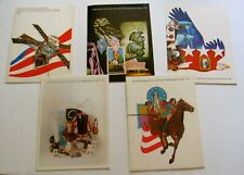 5 MINT SETS US POSTAGE STAMPS IN FOLDERS..1974 TO 1978