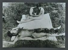 Sigmar Polke Ltd. Ed Photo Print 30x21 Untitled Willich 1972 B&W Portrait Couple
