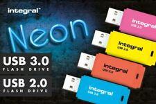 USB 3.0 2.0 Memory Stick Flash Pen Drive 8 32 64 128 GB Orange Blue Pink Yellow