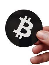 """Bitcoin Aufkleber """"bitcoin Logo"""" SimpleB rund 70mm Profiqualität (5 Stk.)"""
