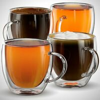 Insulation Coffee Mug Thermal Glass Double-layer Mugs Milk Tea Cup with Handle