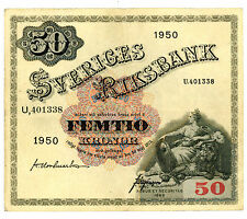 sweden … P-35ae … 50 Kronor … 1950 … *VF-XF*