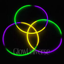 """50 24"""" Glow Necklaces in Tri-Color Green, Purple, Yellow"""