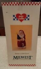 Midwest of Cannon Falls Eddie Walker Santa Holding Christmas Tree with Goose