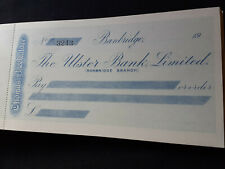 More details for antique, banbridge law firm, ulster bank cheque book, thomas b.wallace @ 1910