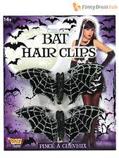 Señoras Murciélago Hair Clips Adultos Disfraz De Halloween Disfraz Accesorio para Mujer